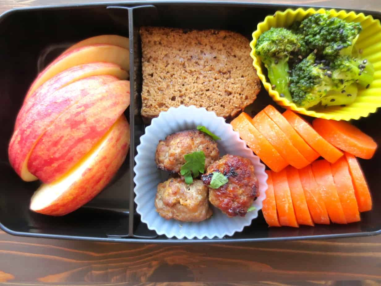 Adult Bento Box Ideas - Miso Meatballs