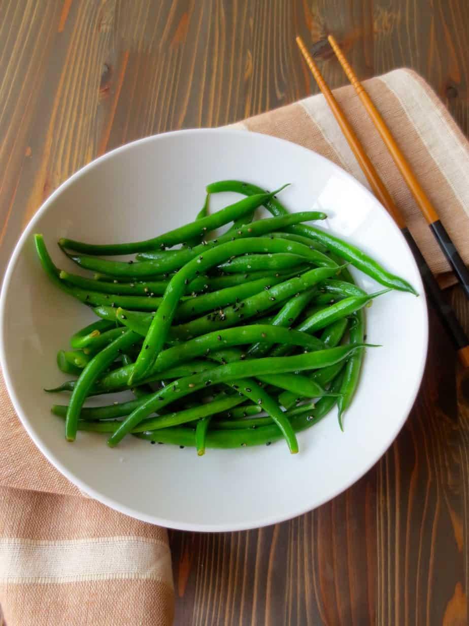 Sesame Steamed Green Beans