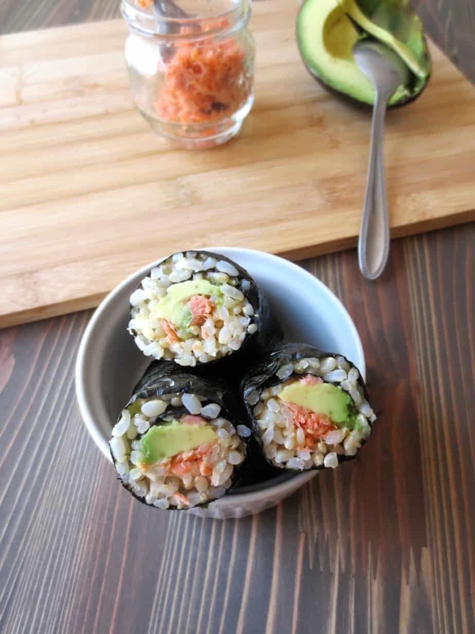 Salmon Avocado Seaweed Rolls