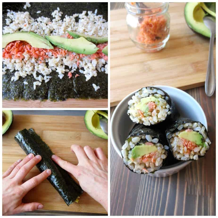 Salmon Avocado Nori Rolls Bento Idea