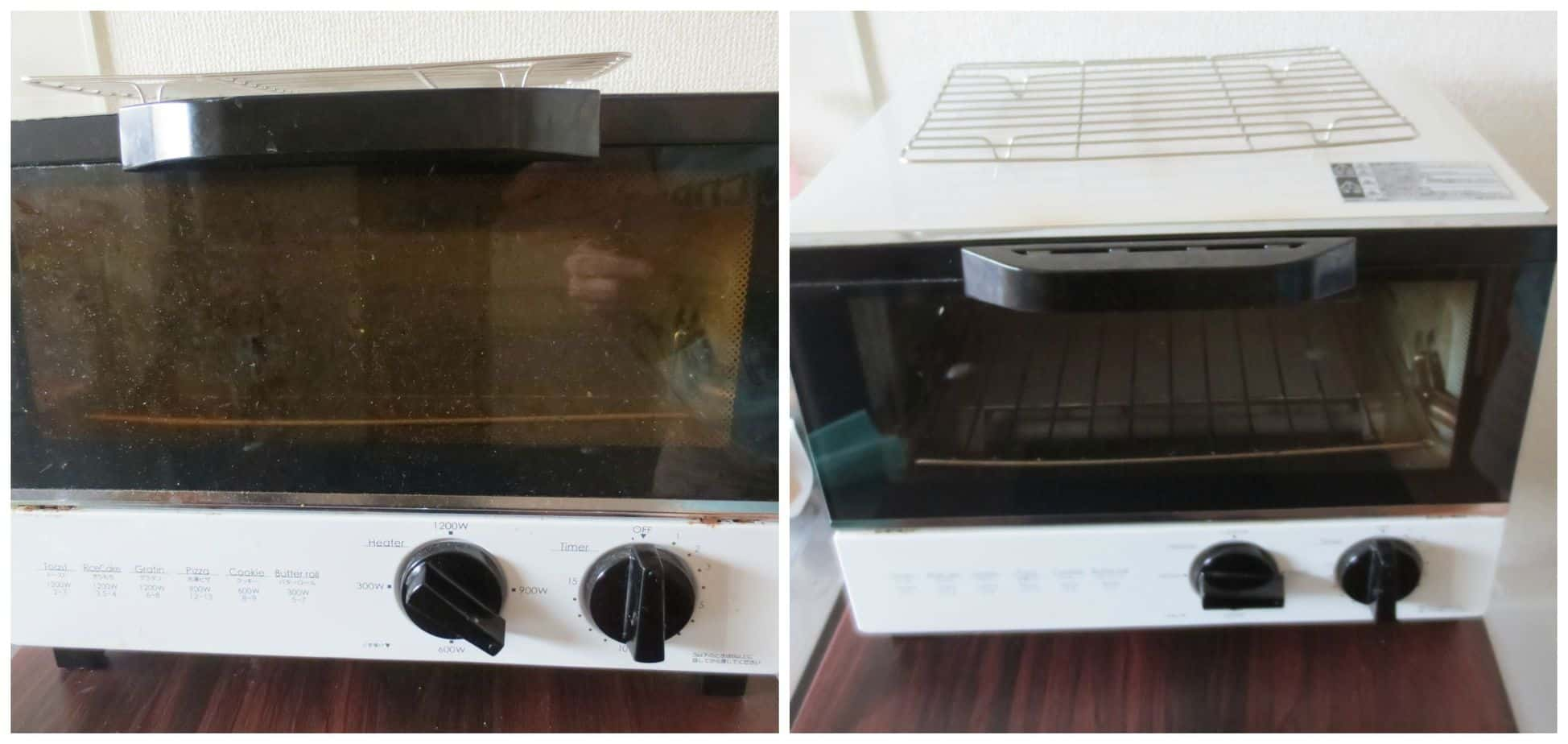 Cleaning the Toaster Oven - Before and After