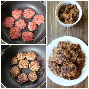 Homemade Maple Sage Breakfast Sausage Patties (or crumbled) | Frugal Nutrition #nomnompaleo #foodforhumans