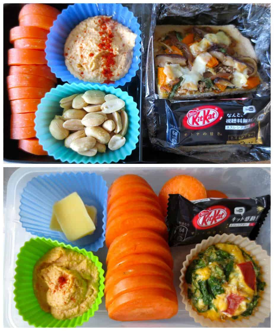 Bento Boxes with Hummus and Carrots