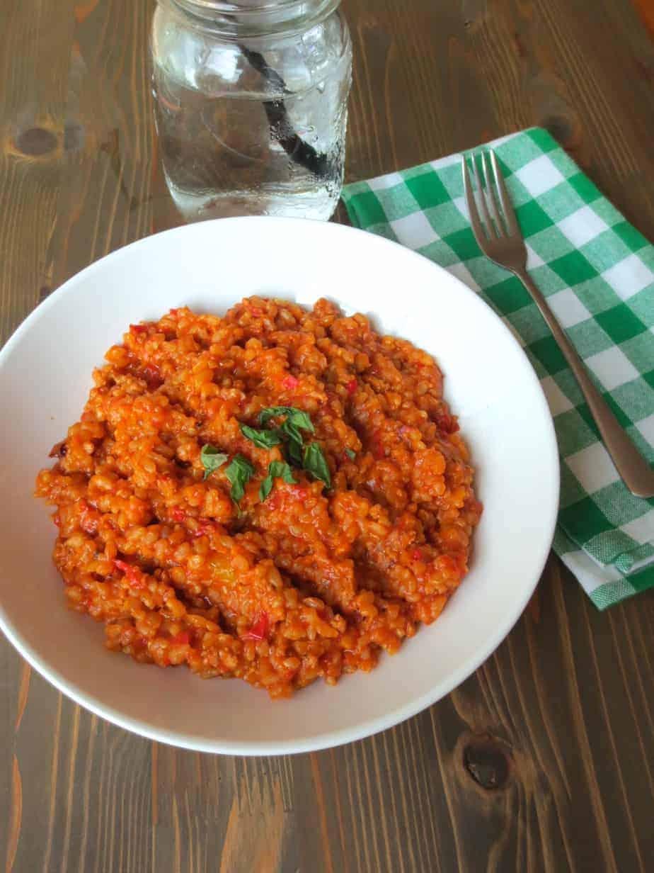 Easy Brown Rice Jambalaya with Homemade Sausage