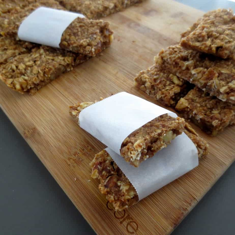 Old Banana Walnut Oat Bars