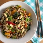 Peanut Soba Noodles with Veggies