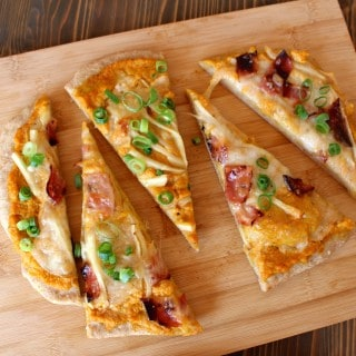 Fall Pizza with Apples, Bacon, and Creamy Pumpkin Sauce | Frugal Nutrition