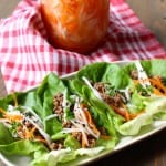 Miso Lettuce Wraps with Quick Pickled Carrots and Radish