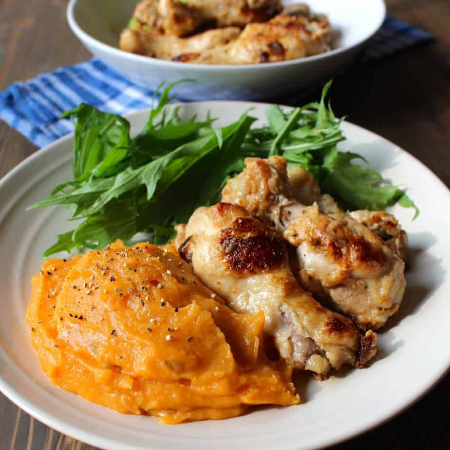 Stovetop Coconut Chicken with Carrot Potato Puree | Frugal Nutrition