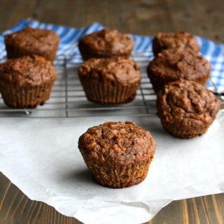 Carrot Cake Banana Muffins made with Whole Wheat Flour - no added sugar!   Frugal Nutrition