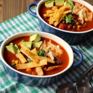 Easy Red Enchilada Soup with Homemade Enchilada Sauce | Frugal Nutrition