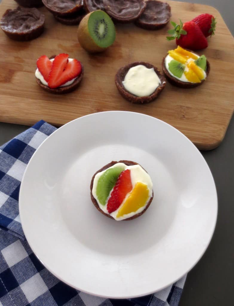 Fruit Tarts with Maple Cream Cheese Frosting