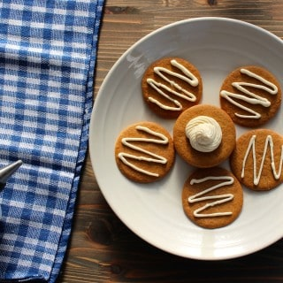 Maple Cream Cheese Frosting on Gingersnaps | Frugal Nutrition