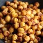 Salty & Spicy Roasted Chickpeas | Frugal Nutrition
