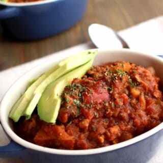 Stovetop Sweet Potato Turkey Chili (paleo) | Frugal Nutrition