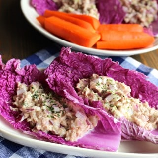 No Mayo Tuna Fish Salad Cabbage Wraps | Frugal Nutrition