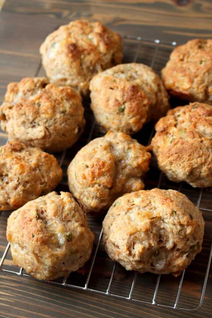 Easy Whole Wheat Cheddar Garlic Drop Biscuits with Yogurt - Frugal Nutrition