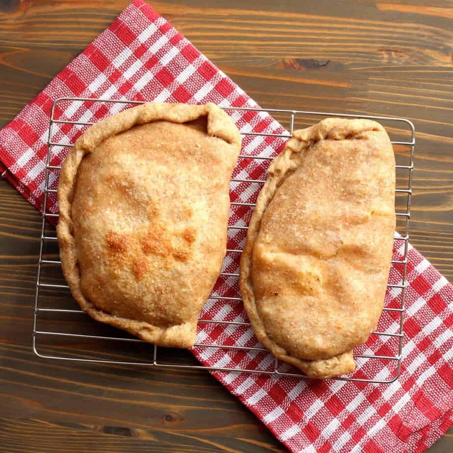 Easy Ham & Pineapple Calzones | Frugal Nutrition #ham #pineapple #hawaiian #calzone