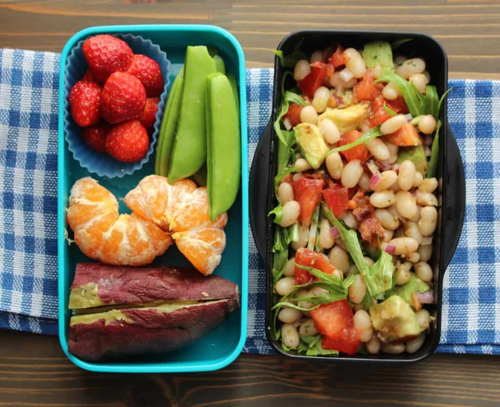 Lunchbox - Easy White Bean Bacon Avocado Salad