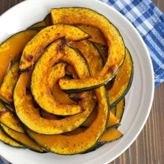 Roasted Kabocha Squash (Japanese Pumpkin) | Frugal Nutrition #kabocha #pumpkin #roastedveggies