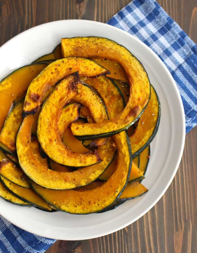 Roasted Kabocha Squash (Japanese Pumpkin) | Frugal Nutrition #kabocha #pumpkin #roastedveggies