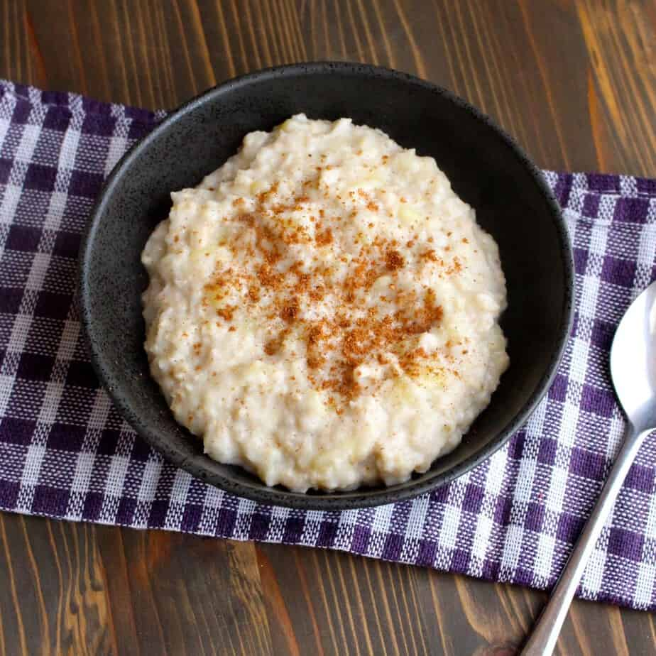 3-ingredient Banana Oatmeal | Frugal Nutrition (mashed bananas, milk, and oats)