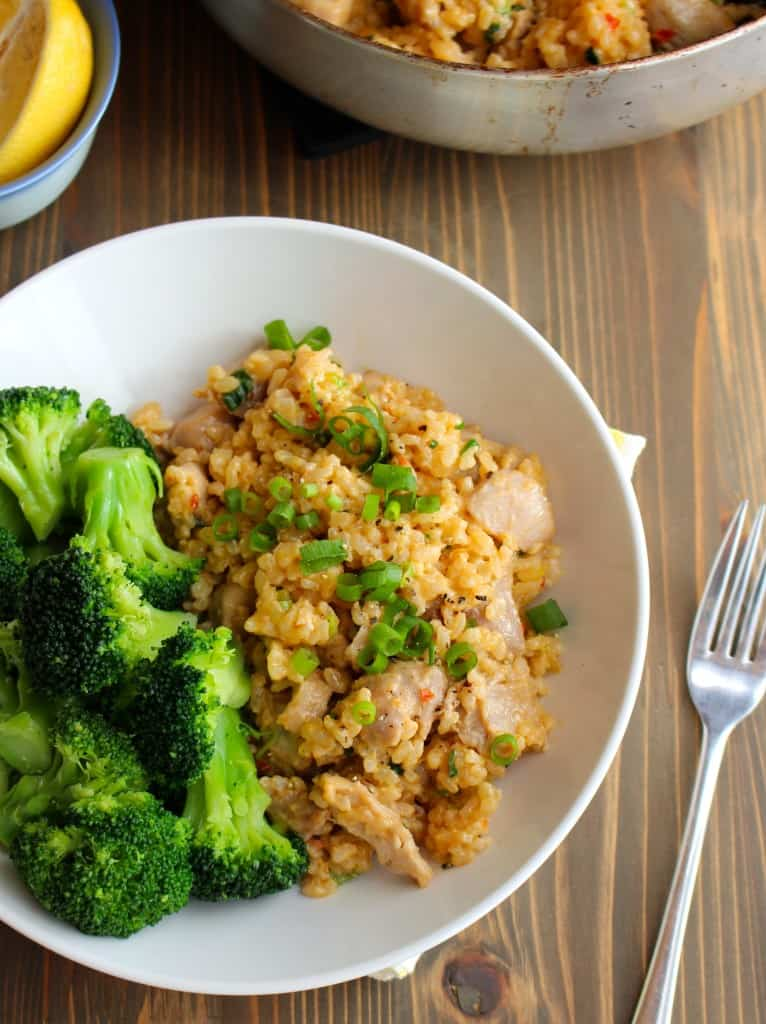 One Pan Spicy Garlic Coconut Chicken & Rice #onepan #onepot #easydinner | Frugal Nutrition