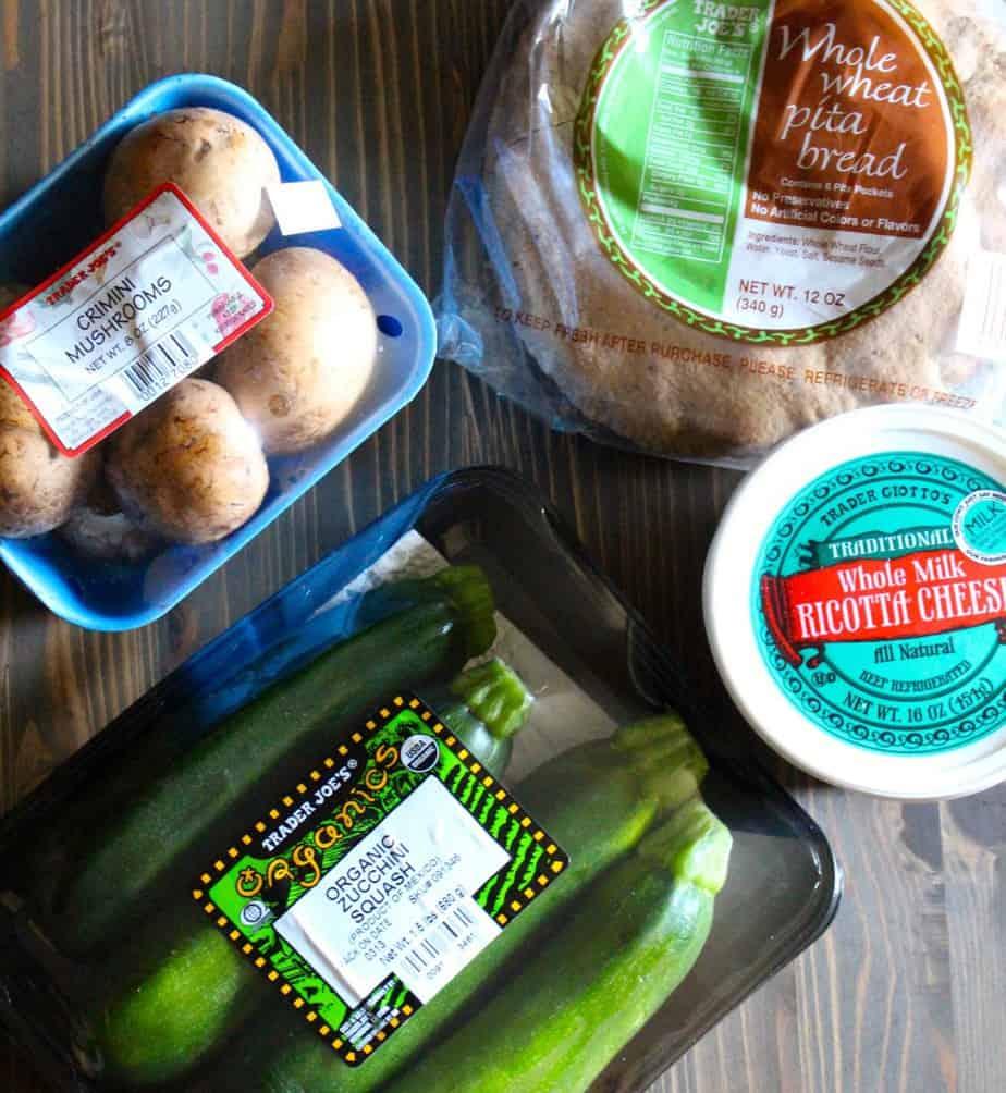 4-Ingredient Veggie Pita Pizzas | Frugal Nutrition