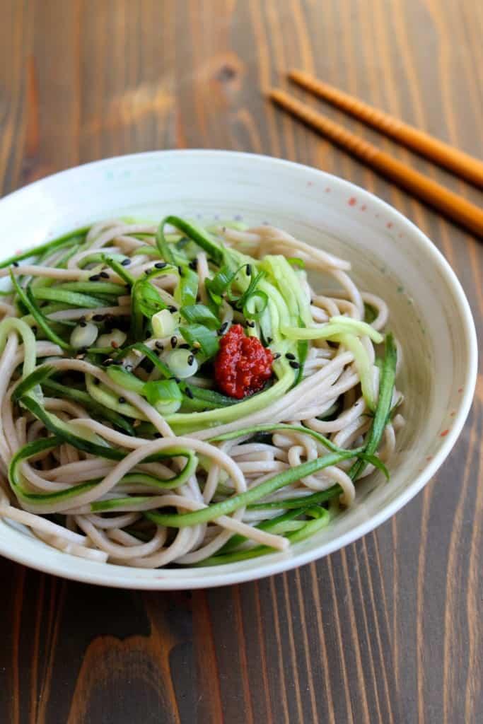 Cucumber Noodle Soba Salad | FrugalNutrition.com