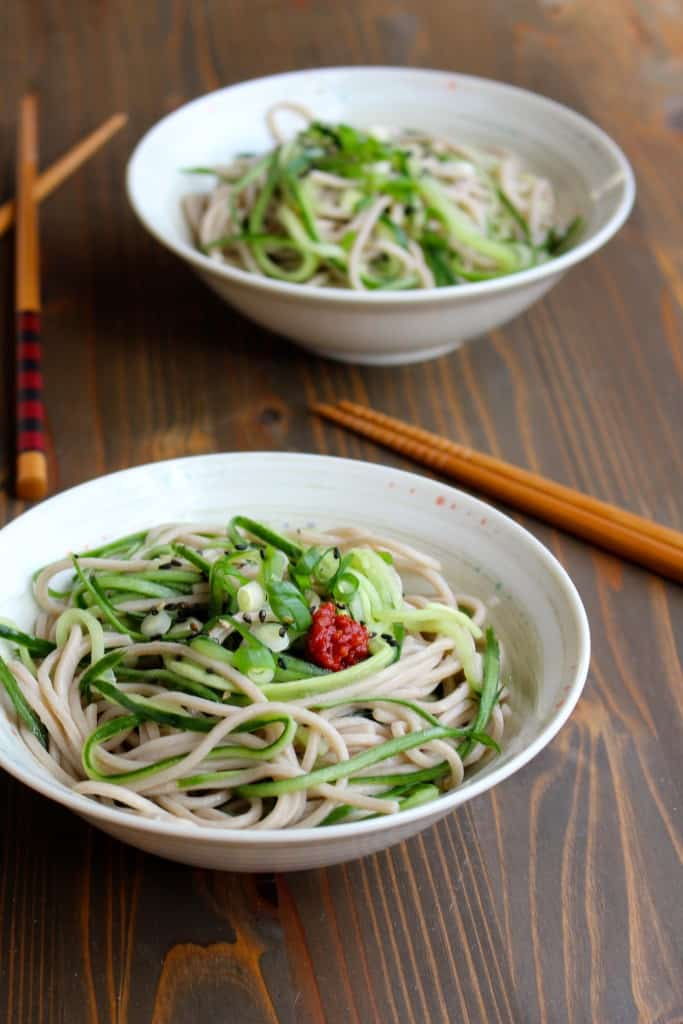 Cucumber & Soba Salad #lunchbox | Frugal Nutrition