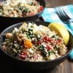 Lemon Feta Couscous With Spinach