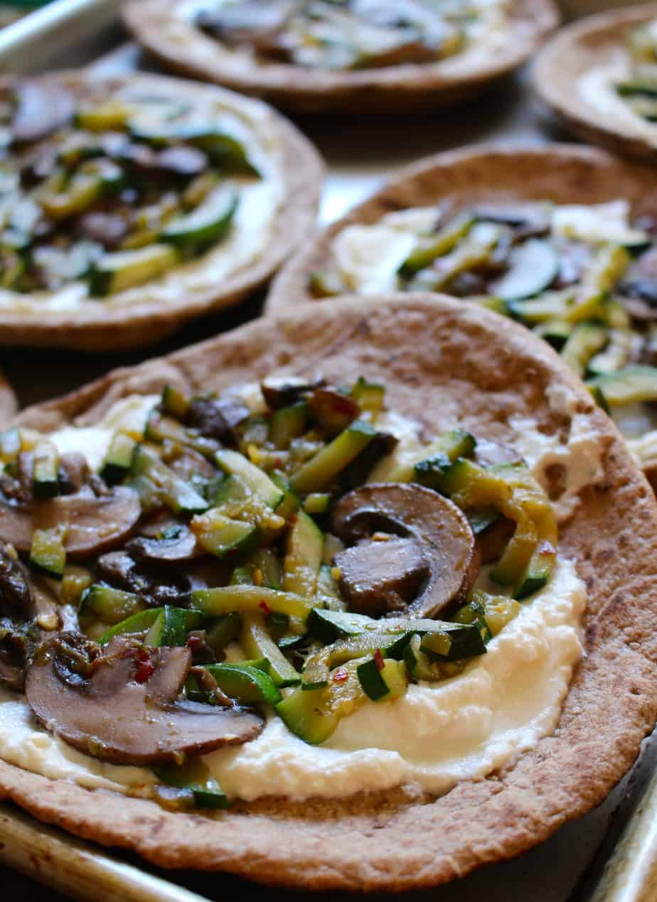 Easy Pita Pizzas | Frugal Nutrition #traderjoes #pizza #pita