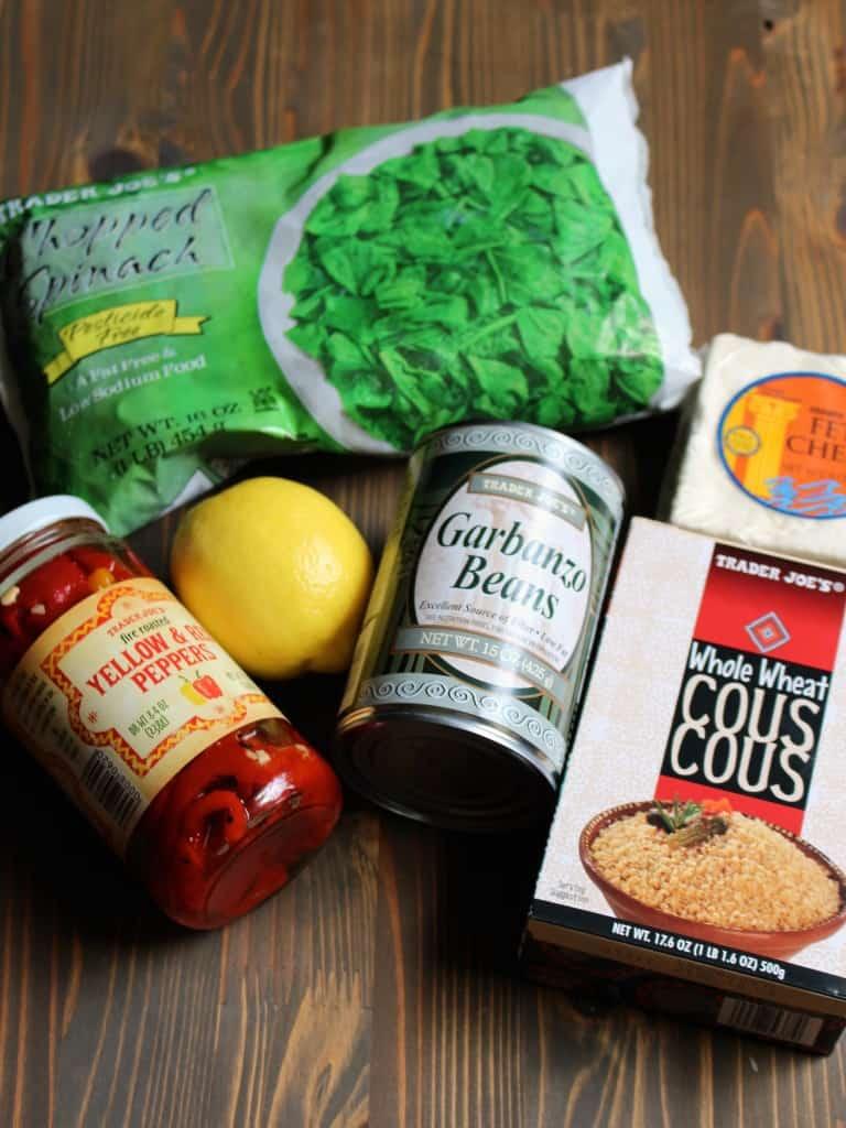 Lemon Couscous Ingredients | Frugal Nutrition #traderjoes