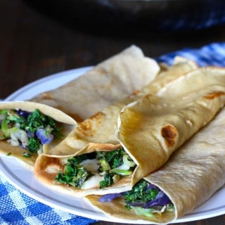 Whole Wheat Crepes with Kale & Cheddar | Frugal Nutrition #traderjoes #cruciferouscrunch