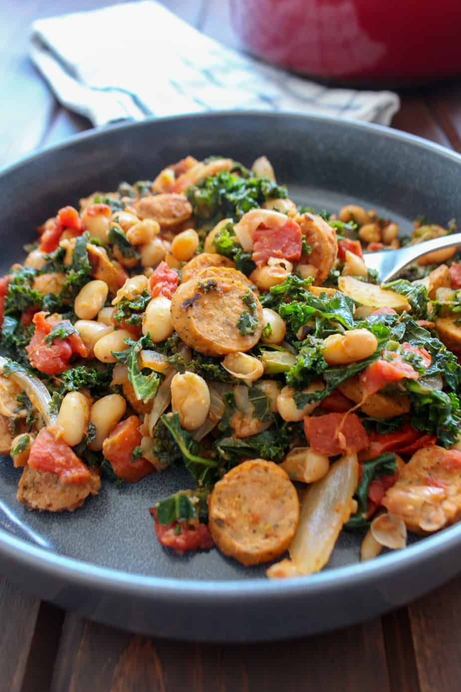 Easy Sausage Kale and White Bean Dinner | Frugal Nutrition