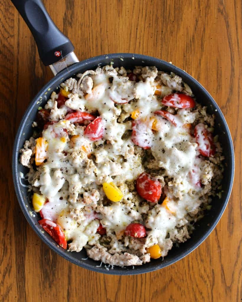Ground Turkey & Spaghetti Squash Margherita| Frugal Nutrition