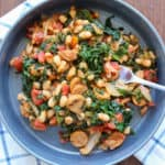 Sausage, White Beans, Kale One Pot Dinner | Frugal Nutrition