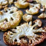 Sliced Roasted Cauliflower