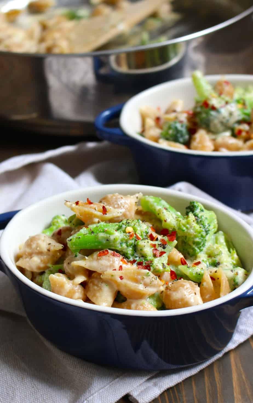 Broccoli Whole Wheat Mac & Cheese with Cheddar | Frugalnutrition.com