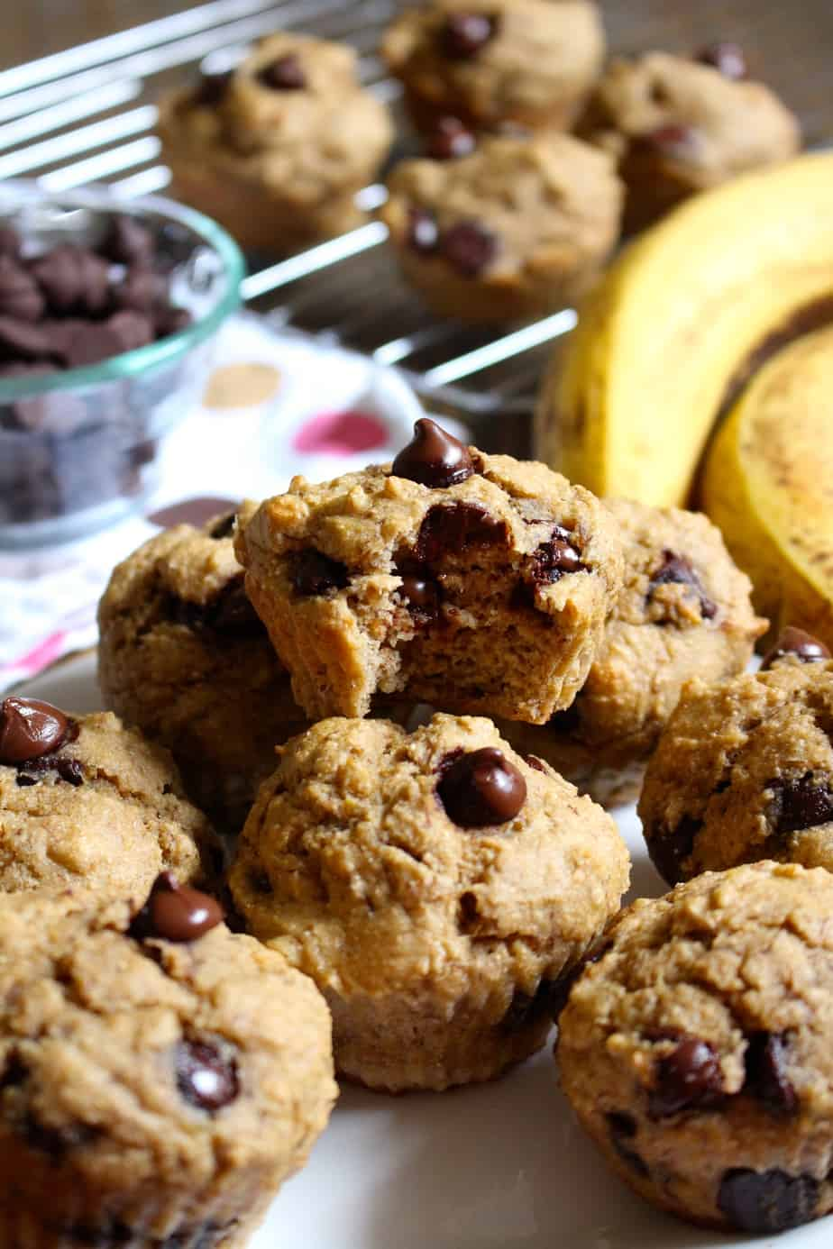 Chocolate Chip Banana Muffins | frugalnutrition.com