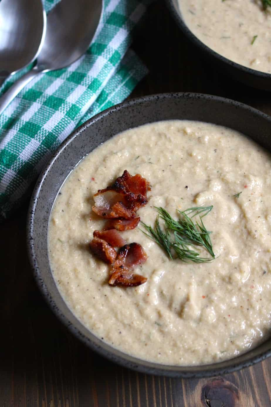 Creamy Celery Soup with Bacon