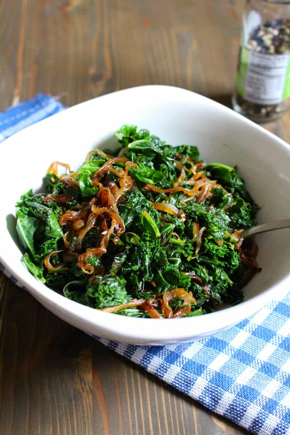 Easy kale with caramelized onions | Frugal Nutrition
