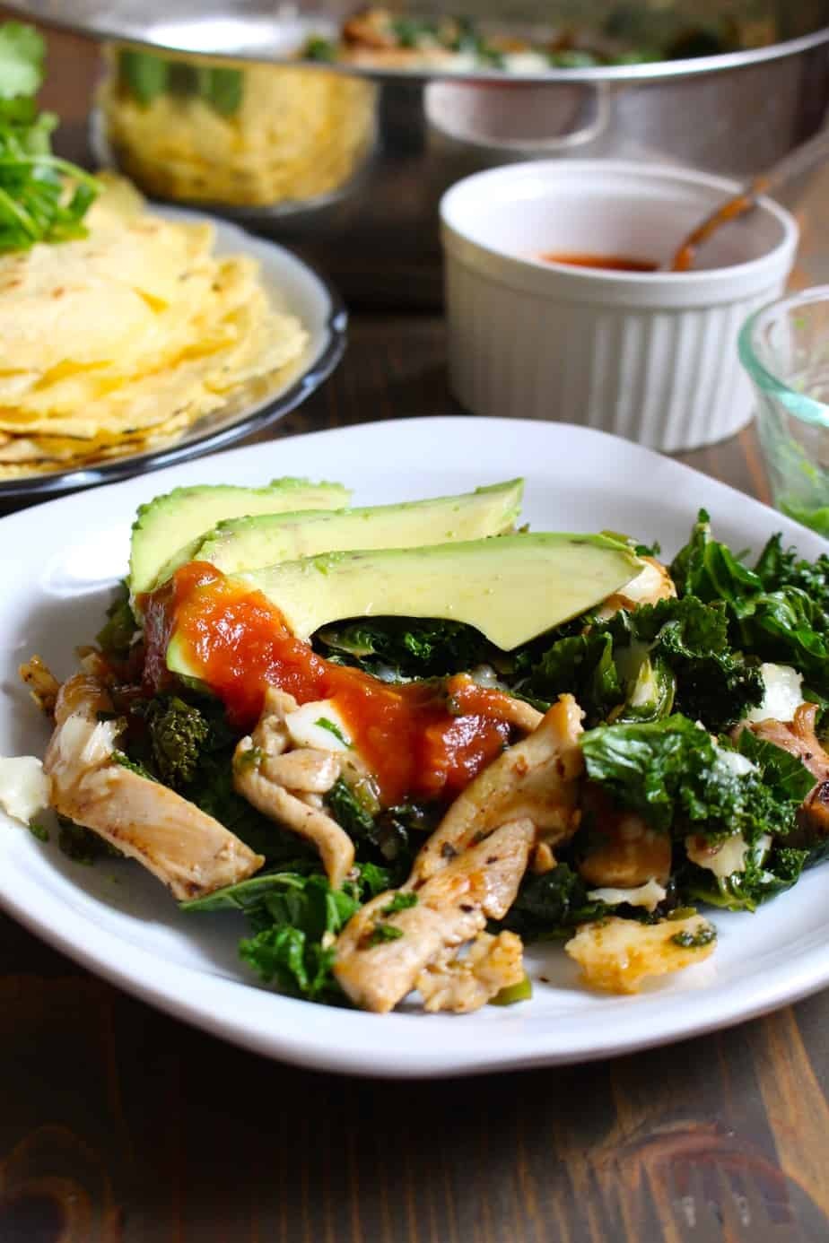 Jalapeño Chicken Skillet - Flavorful Chicken & Jalapeño with Kale #easy #dinner | Frugal Nutrition