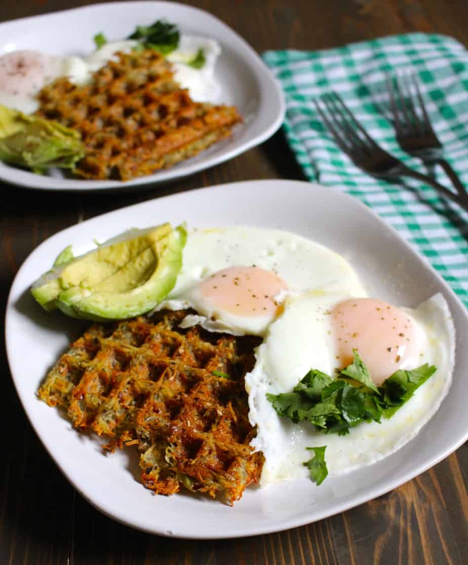 Hashbrowns in a Waffle Maker | Frugal Nutrition