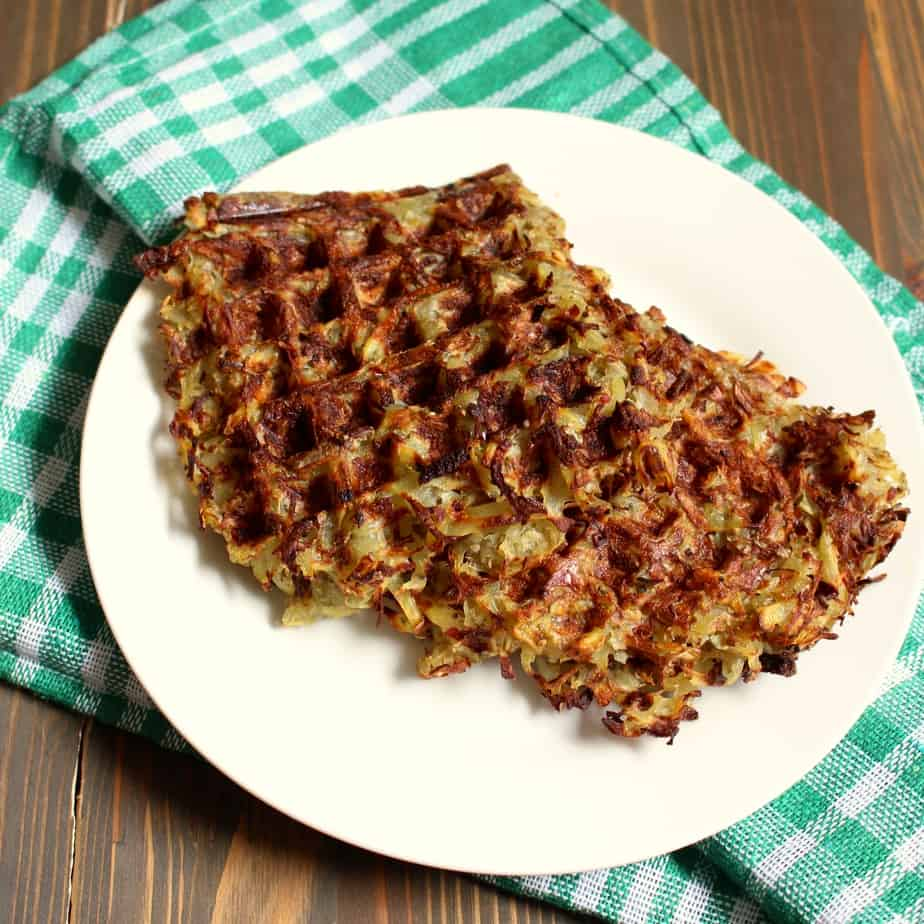 Make Hash Browns in a Waffle Maker by frugalnutrition.com