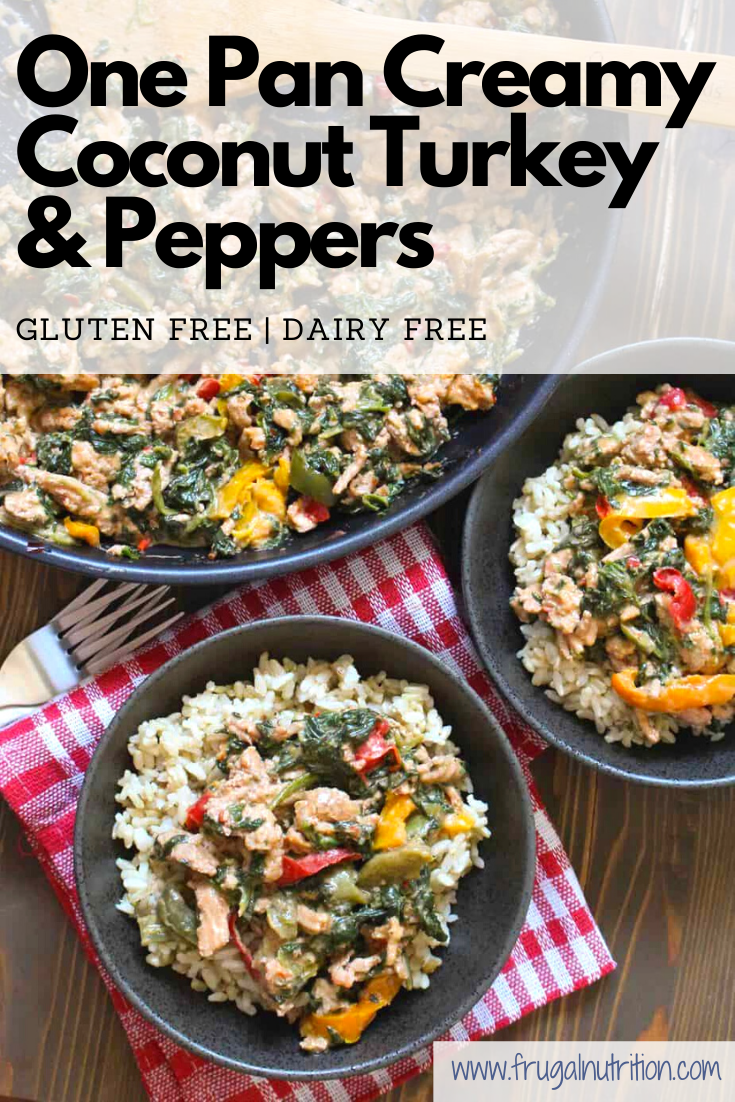 One Pan Creamy Coconut Turkey & Peppers by frugalnutrition