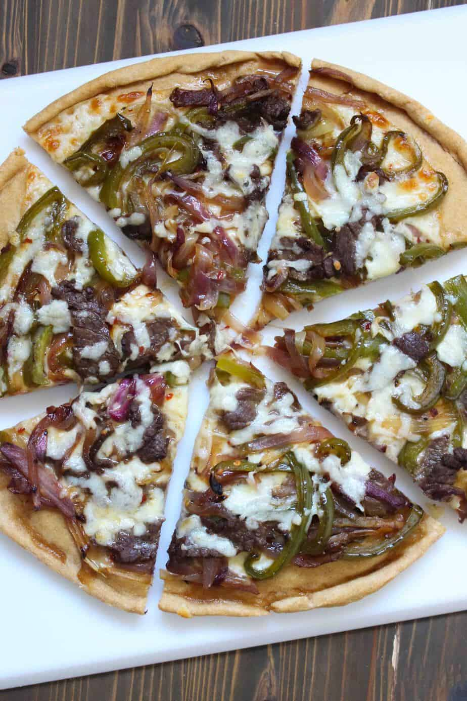 Philly Cheesesteak Pizza | Frugal Nutrition