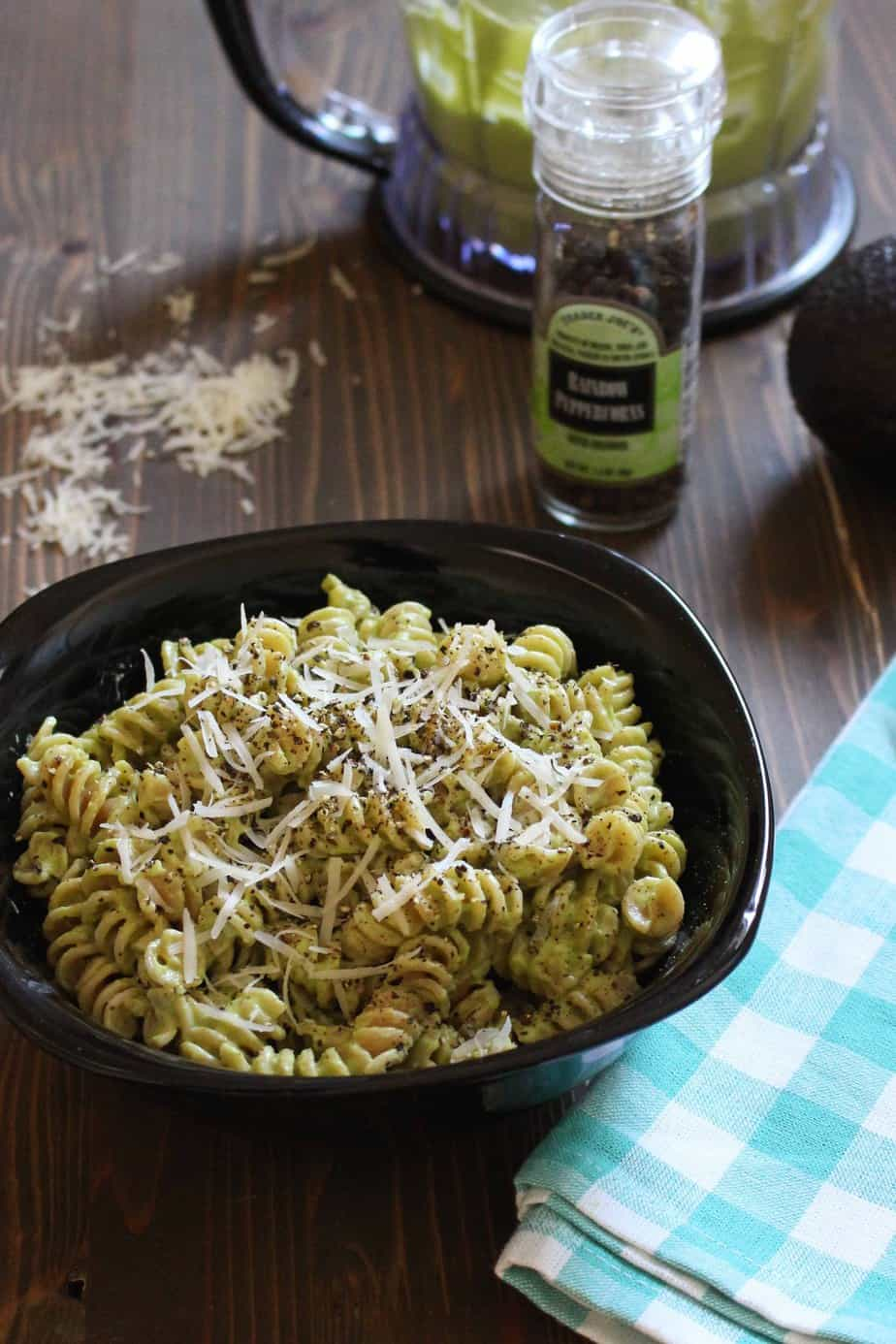 Avocado Alfredo Sauce for Pasta or Zoodles | Frugal Nutrition