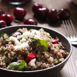 Cherry Balsamic Quinoa Salad | Frugal Nutrition