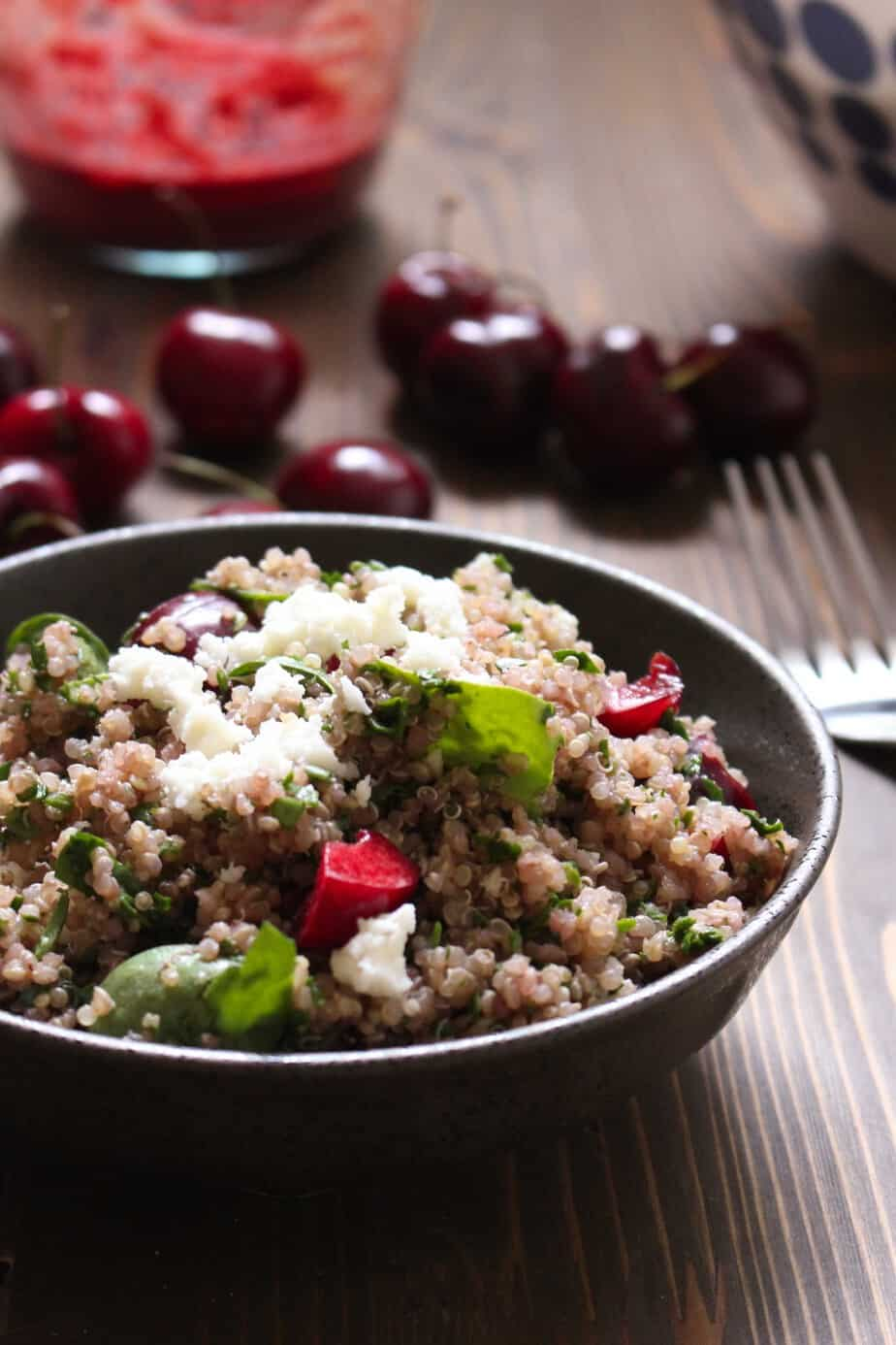 Cherry Balsamic Quinoa Salad   Frugal Nutrition